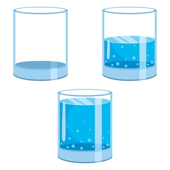 Illustration of water glasses