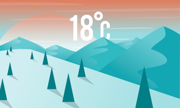 Illustration of weather forecast icon
