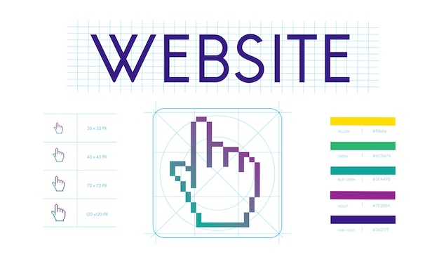 Illustration of web design