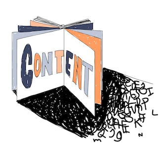 Illustration of website content