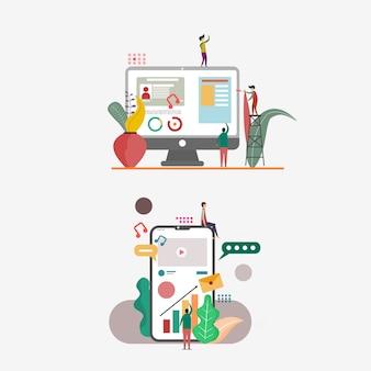 Illustration for websites and landing page