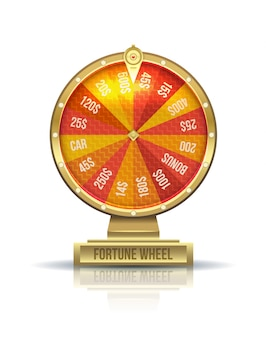 Illustration of wheel of fortune