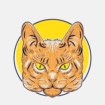 Illustration of wild cats for design or logo needs
