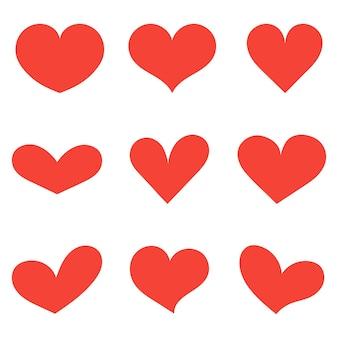 Иллюстрация с красным сердцем. векторная иллюстрация.