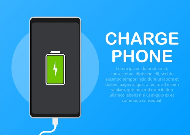 Illustration with charge mobile phones.