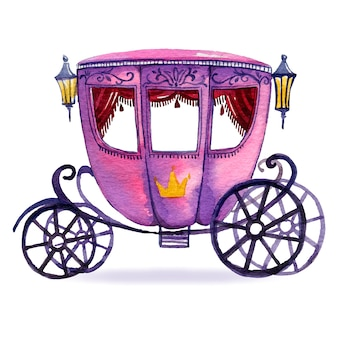 Illustration with fairytale carriage design