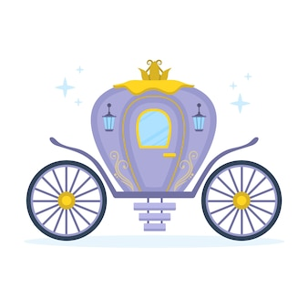 Иллюстрация со сказочным дизайном коляски