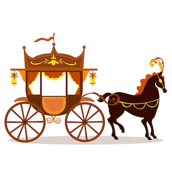 Illustration with fairytale carriage