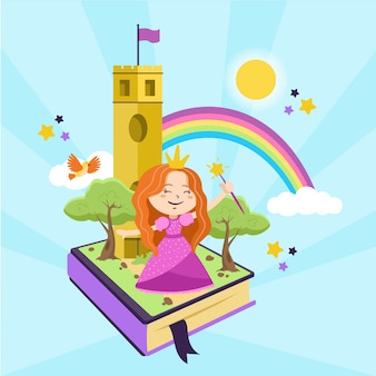Illustration with fairytale concept theme
