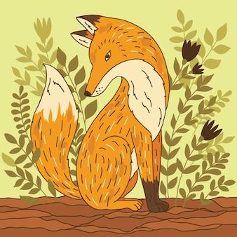 Illustration with fox