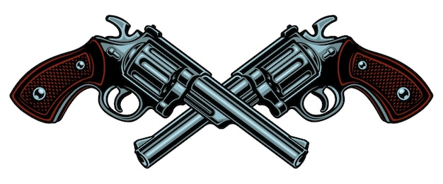 Illustration with guns.