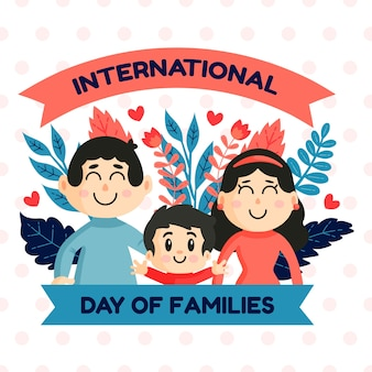 Illustration with international day of families concept