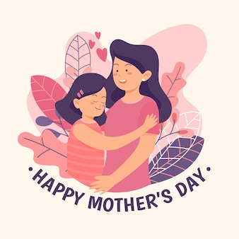 Illustration with mothers day theme