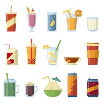 Illustration with non alcoholic drinks