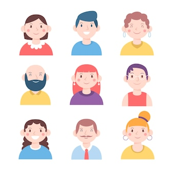 Illustration with people avatars concept