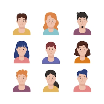 Illustration with people avatars