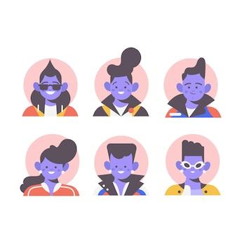 Illustration with people avatars