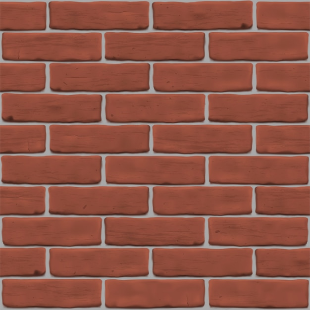 Illustration with red brick wall for site background, banner,  texture . seamless photorealistic pattern.