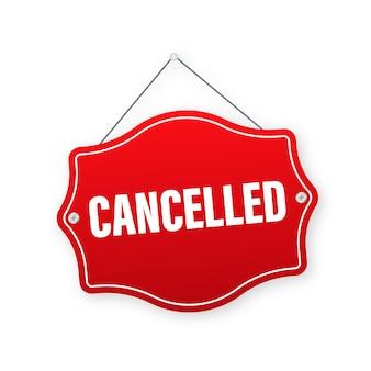 赤のイラストがキャンセルされました
