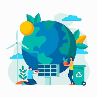 地球を救うイラスト