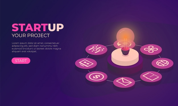 Illustration with startup