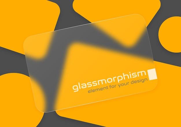 すりガラスの効果のあるイラスト。