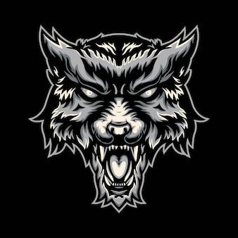 イラストオオカミのロゴ