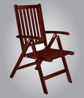 Illustration wooden chair