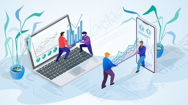 Illustration of working people business company