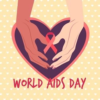 Illustration of world aids day concept