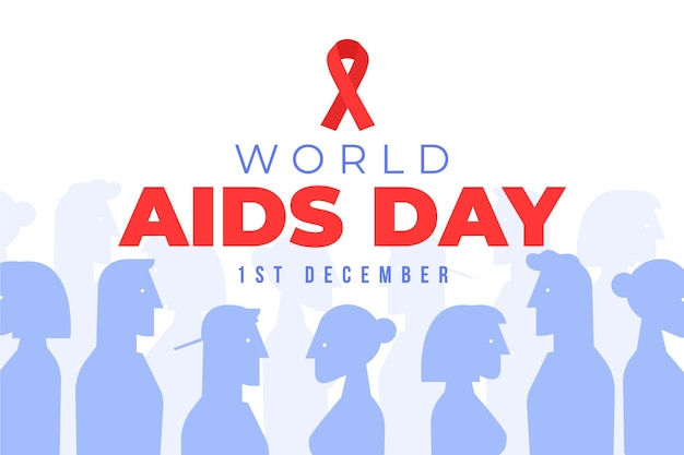 Illustration world aids day concept