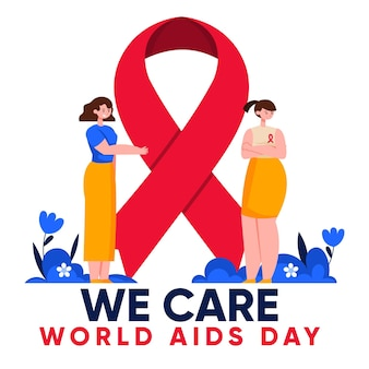 Illustration of world aids day Free Vector