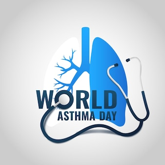 Illustration of world asthma day