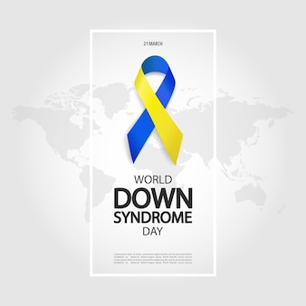 Illustration of world down syndrome day