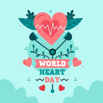 Illustration of world heart day event