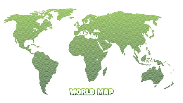 Illustration of world map vector