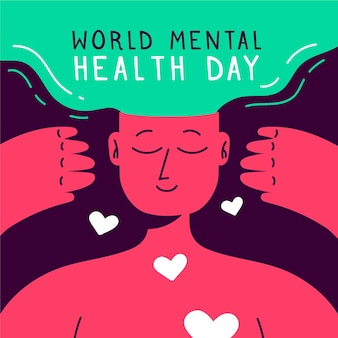 Illustration of world mental health day event
