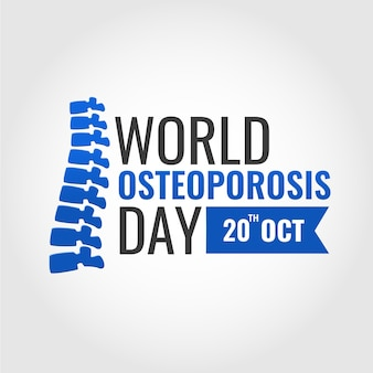 Illustration of world osteoporosis day.