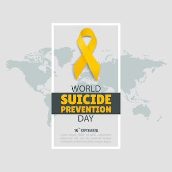 Illustration of world suicide prevention day