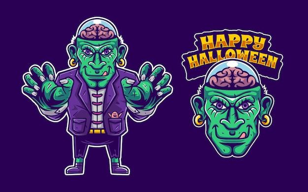 Illustration of zombie mascot