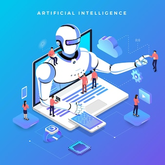 Illustrations concept  artificial intelligence ai