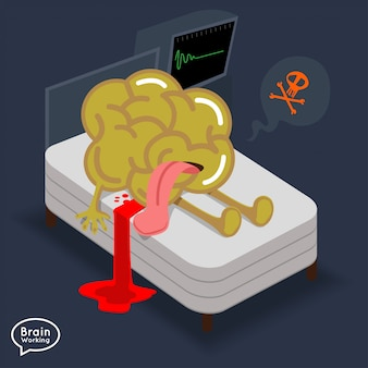Illustrations concept brain fitness