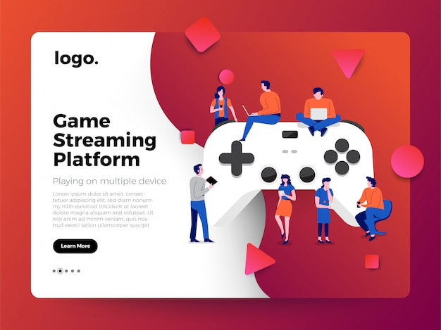 Illustrations concept game streaming platform