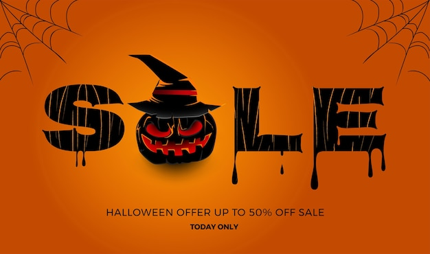 Illustrations concept halloween sale