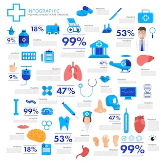 Illustrations concept medical and healthy vector