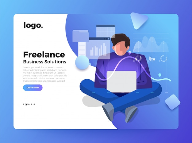 Illustrations concept worker landing page