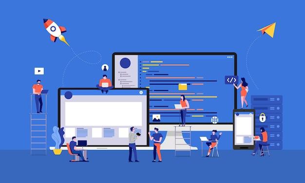 イラストデザイン開発者またはプログラマーの開発コードとウェブサイト