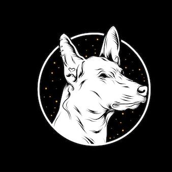 イラスト犬の頭