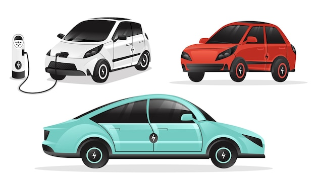 Illustrations of electric cars