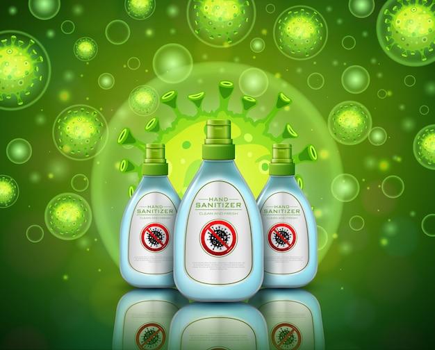 Illustrations hand sanitizer concept for coronavirus disease covid-19